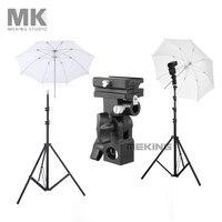 Meking W803 Light Stand Flash Bracket B Mount 33inch Translucent Umbrella Speedlite Shooting Kit 1