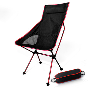 Image 1 - Moon Chairs Fishing Camping Chair BBQ Stool Folding Extended Hiking Garden Furniture Portable Ultra Light Office AL Alloy Seat