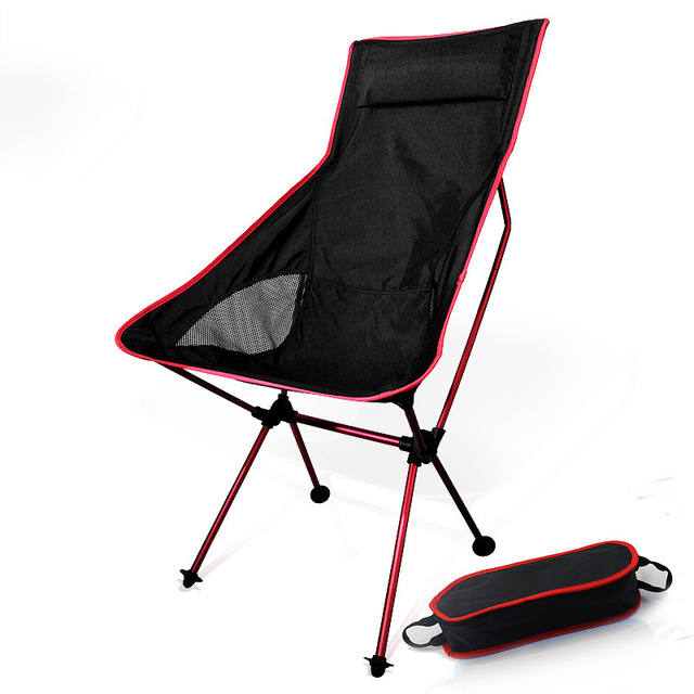 Moon Chairs Fishing Camping Chair BBQ Stool Folding Extended Hiking Garden Furniture Portable Ultra Light Office AL Alloy Seat