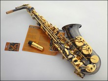 Envío libre Francia Selmer 54 saxofón contralto E instrumentos Negro níquel oro doble enlace electrónico paquete de acero
