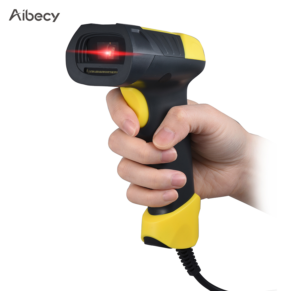 US $25 72 34% OFF|Aibecy A8 Handheld USB Barcode Scanner Bar Code Reader  for Mac Windows Android Linux Scanner Office Electronics-in Scanners from