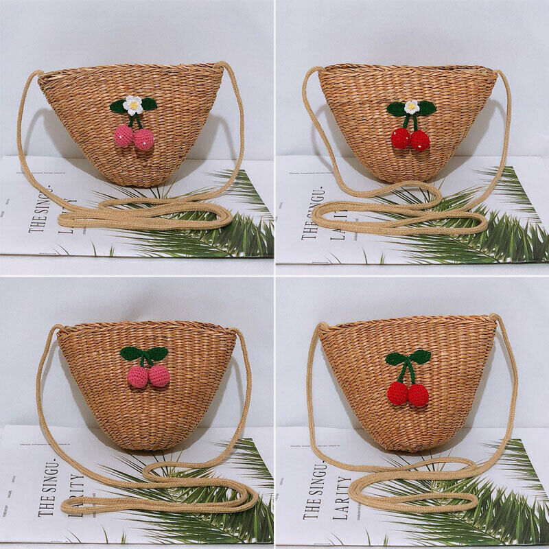 2019-new-women-straw-storage-grocery-eco-bag-friendly-cherry-decoration-reusable-shopping-tote-messenger-bag