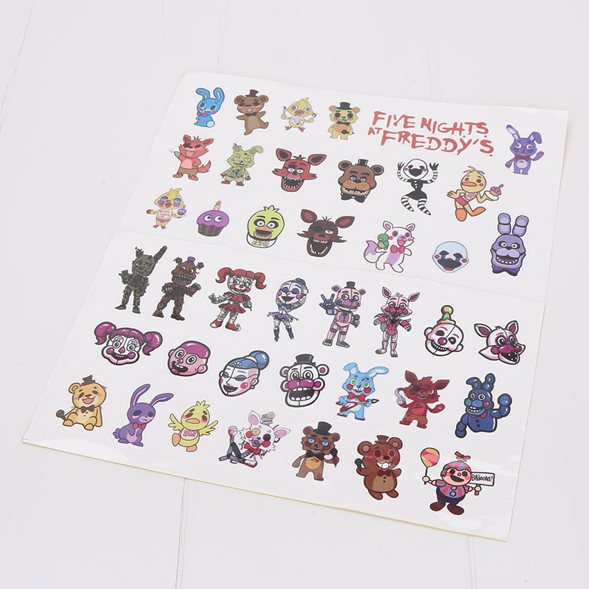 100sets Five Nights at Freddy s FNAF Sticker paster Sister Location waterpoof cap sticker for Luggage