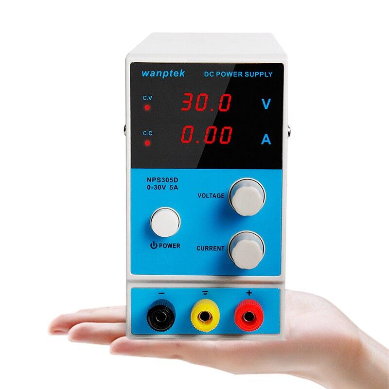 Nouveau Mini réglable numérique DC laboratoire interrupteur alimentation multifonction LED laboratoire Source banc alimentations usine maison - 6