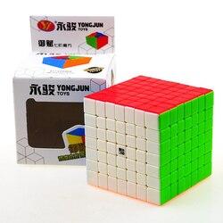 Yong Giugno Yu Fu 7*7*7 di Colore Cubi Magici di Puzzle Cubo di Velocità Giocattoli Educativi Regali per I Bambini bambini