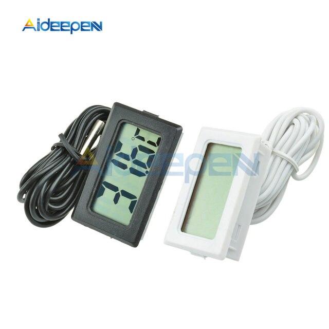 TPM-10 LCD Digital Thermometer Temperature Sensor Meter Weather Station Temperature Controller Thermostat Thermal Regulator 2m2M