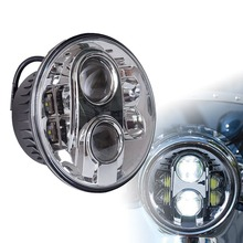 Motorcycle 7″ Led Headlight 80W 7 Inch Round Hi/Lo Beam Led Headlamp Bulb Driving Lights DRL Lighting for Motorcycle Harley