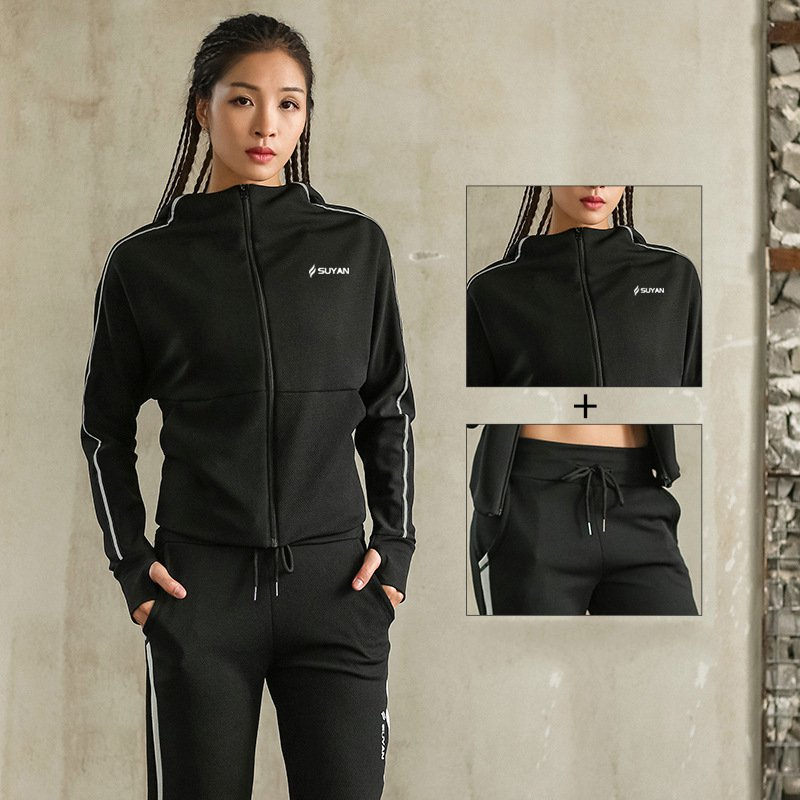 Running Sets Sport Women Suit Running Sets Windproof Warm Autumn Winter Sportswear Women Tracksuit Tops Jackets Sport Pants Sport Suit Women Sports & Entertainment