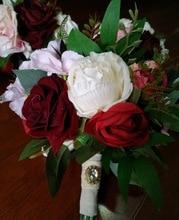 Wedding Bouquet - Silk wedding flowers Forever Flowers Rustic Wed  Bride Bridesmaid mariage