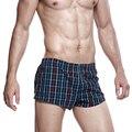 Seobean marca Nuevos cortocircuitos de Los Hombres playa de verano Pequeños pantalones cortos a cuadros informal