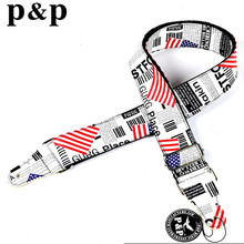 High quality, real leather head, cotton Guitar Strap,acoustic guitar strap, electric guitar strap S618C