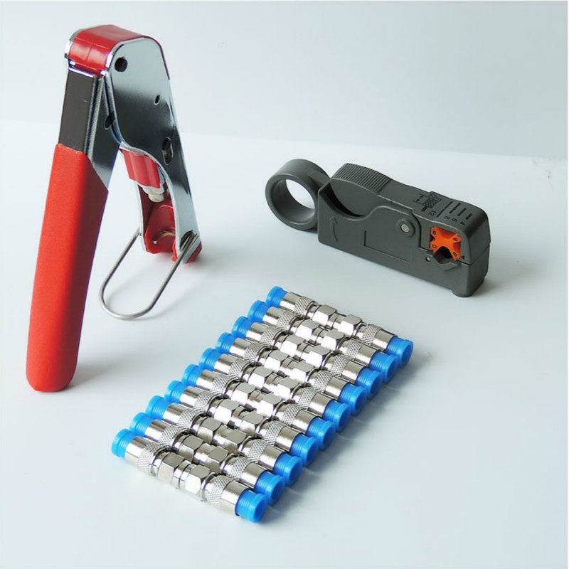 1 set Coaxial Cable Wire Stripper RG6/RG59 Compression F Connector ...