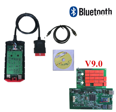 SALE! New come v9.0 ds vci vd tcs pro for cars and trucks 3in1 with bluetooth led cables obd OBD2 diagnostic tool
