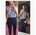 Sexy Overalls Women New 2016 Hot Style Knitted Jumpsuit Long Trousers V- Neck Sleeveless Body Suits Jumpsuit