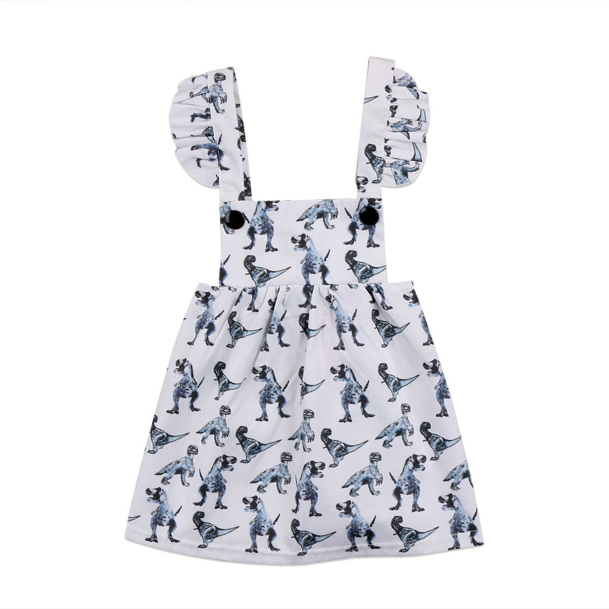 Newborn Baby Girls Dinosaur Sleeveless Dress Clothes Outfits Sundress Summer