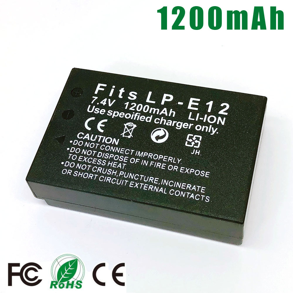 LP-E12 LPE12 LP E12 Camera <font><b>Battery</b></font> for <font><b>Canon</b></font> EOS M M10 M50 M100 <font><b>100D</b></font> Kiss X7 Rebel SL1 DSLR <font><b>Battery</b></font> LC-E12E image