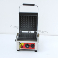 Electric Square Waffle Iron Commercial Waffle Machine Belgium Waffle Maker with Timer Temperature Controller 220V 110V