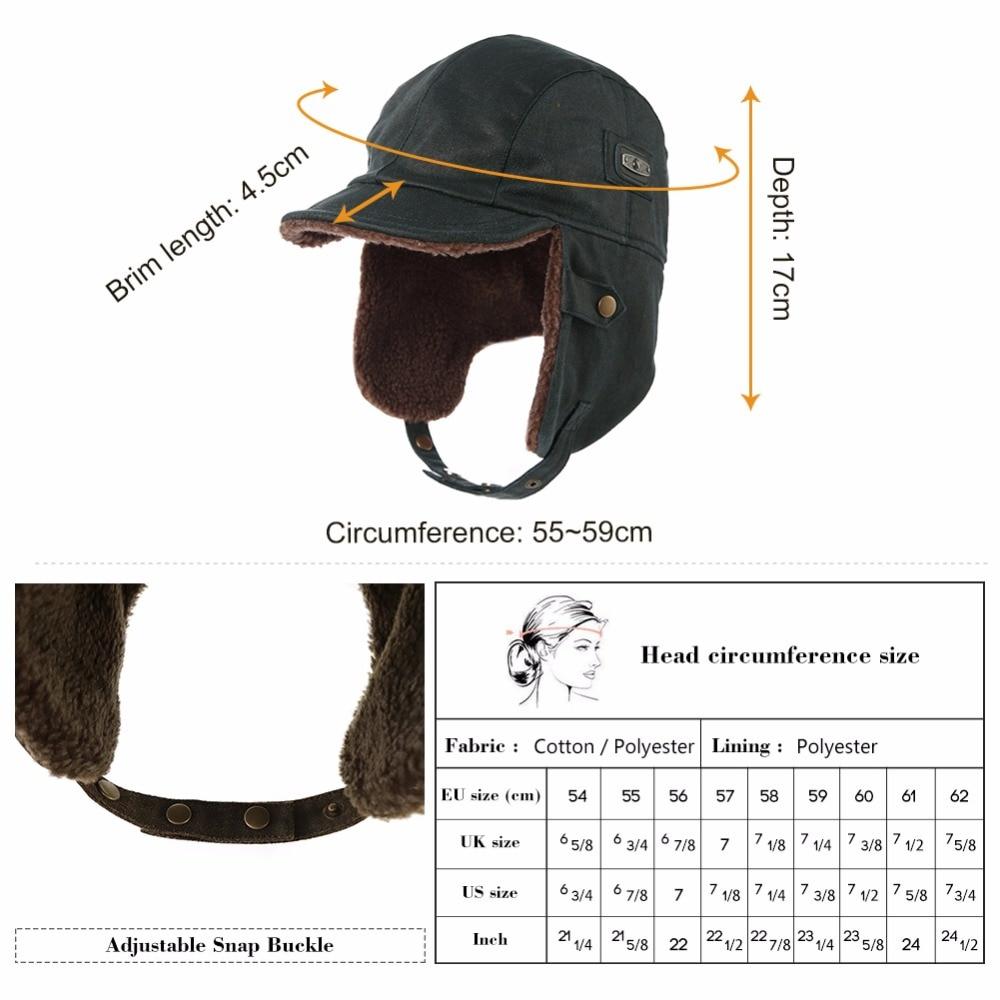 1230d6253e1 FANCET Winter Unisex Bomber Hat For Men Adult Pilot Aviator Cap Earflap  Windproof Ushanka Waterproof Trapper Hunting Hat 88115-in Bomber Hats from  Apparel ...