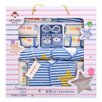 0 12month 15 Pcs/Lot Baby gift Set Newborn Boys and Girls Soft cotton baby set Starfish Print unisex baby Cotton clothing