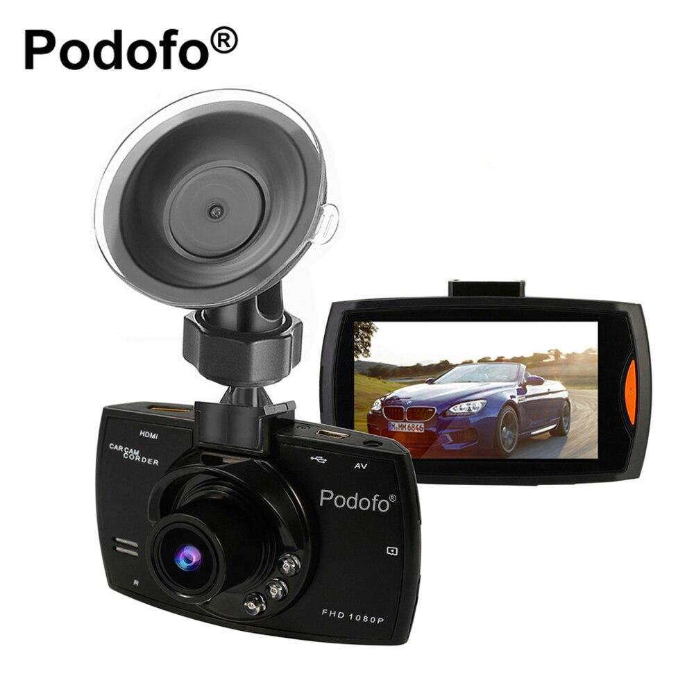 Original Podofo A2 Cámara del coche DVR G30 Full HD 1080 p 140 grados Dashcam Video registradores para coches visión nocturna g-sensor Dash Cam