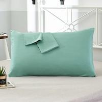 100% Cotton Pillowcase Solid Color Pillow Cover 66*66cm 50*75cm Multicolor optional Sleeping Bedding Pillow Case Free shipping|Pillow Case|   -