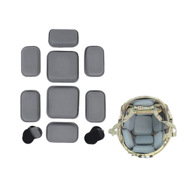 FMA CP Style Helmet Protective Pad Tactical Paintball High Glutinosity Sticker Soft Pad Airsoft Helmet Cushion Pad Grey
