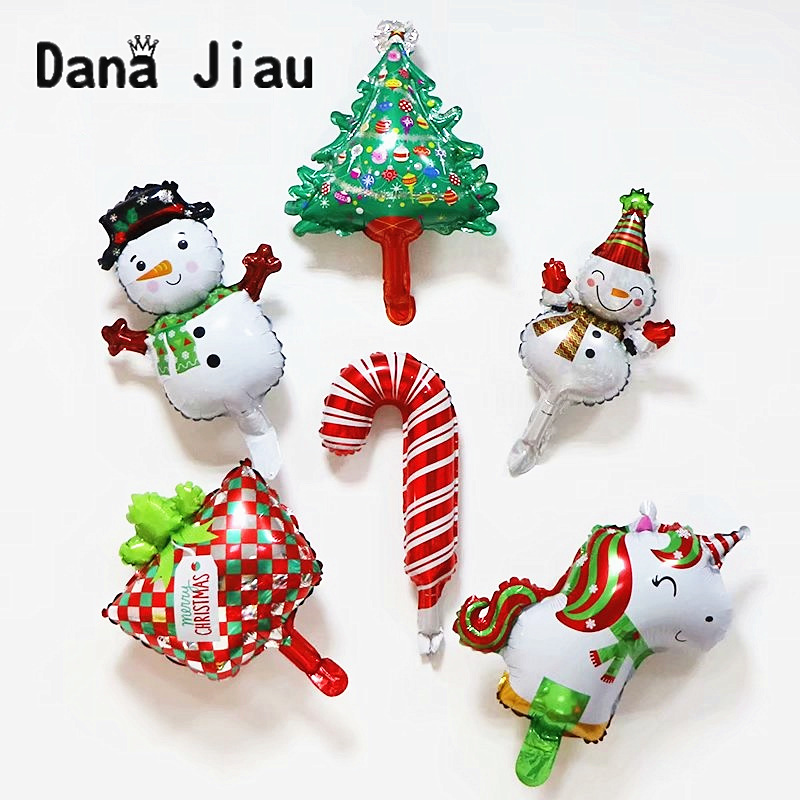 Merry Christmas Decoration Balloons Happy  Year Kids Gift Toy Christmas Tree Snow Man DIY Party Ball Santa Claus Candy Box