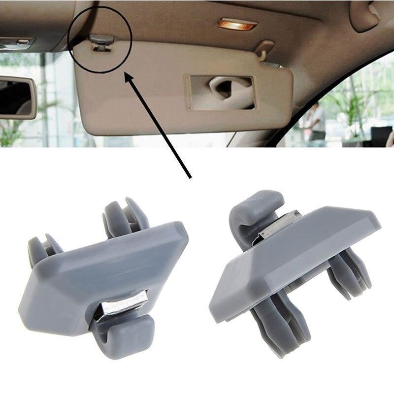 20x Gray Inner Sun Visor Hook Clips Case For Audi A1 A3 A4 A5 Q3 Q5 TT  8U0857562A 8E0 857 562 8cc268143e4