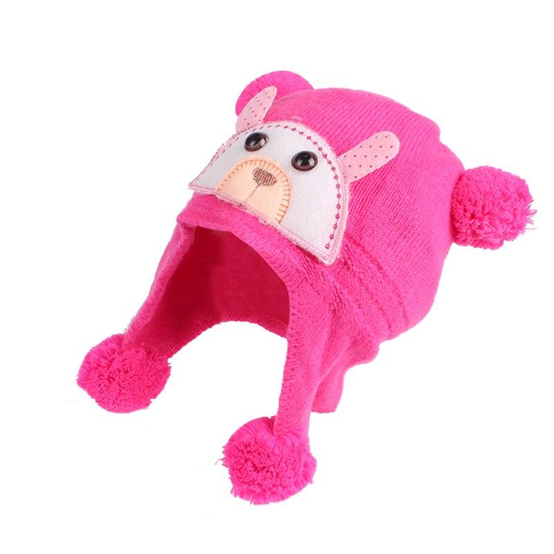 Плюшена шапка за бебешки момичета  - Бебешки дрехи - Снимка 3