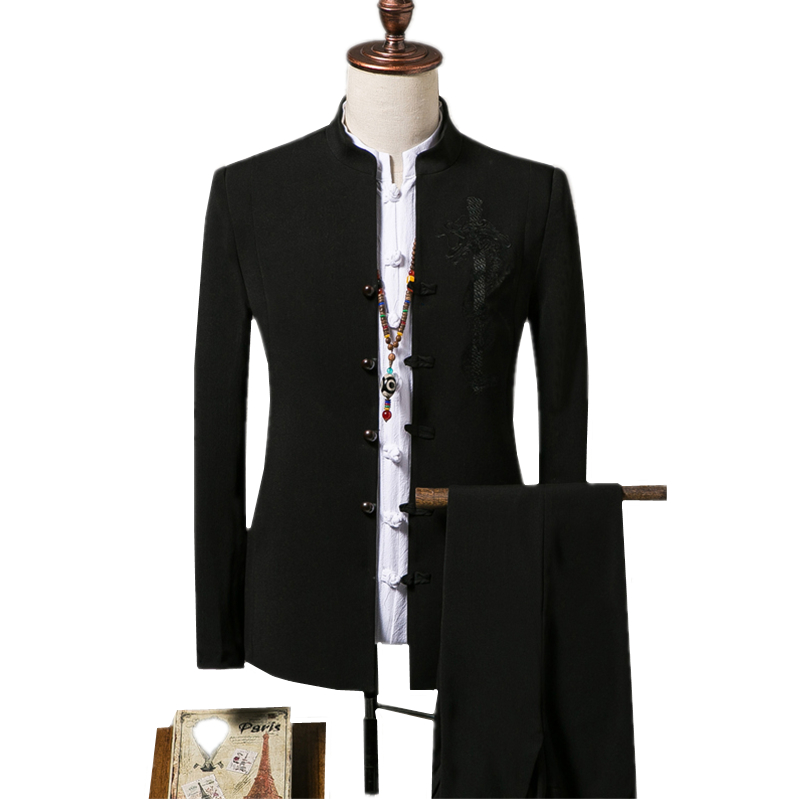 Mens West Decoration Body Full Of Embroidered Pattern Handmade Gold Thread Multi-button Casual Nightclub Singer Small Suit Tide Moderate Price Men's Clothing