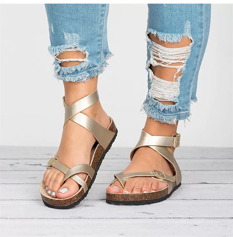 Summer New Casual Shoes Women Sandals Flat Beach Shoes Flip Flop Ladies Sandals Shoes For Woman Chaussures Beach Shoes