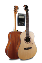 Free shipping 41 Acoustic Guitar,Spruce Top/Mahogany Body guitarra eletrica With LCD Pickup, guitars china With Hard case цена