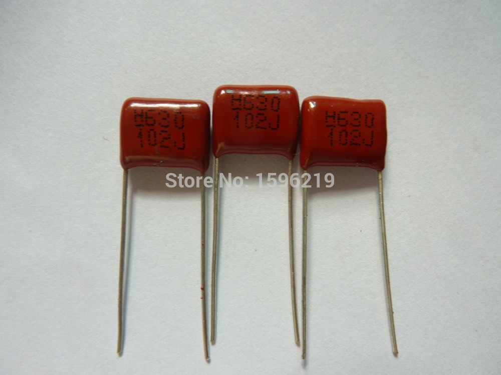 10pcs CBB 102 630V 102J CBB13 0.001UF 1nF P10 Metallized Polypropylene Film Capacitor