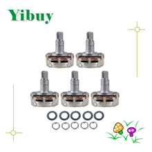 Yibuy 5x Guitar Potentiometer A500k 24mm Base Dia/18mm Shaft
