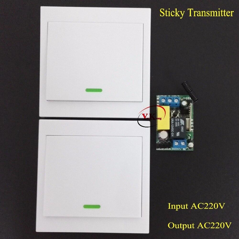 Escalera Control remoto interruptor AC 220 V lámpara LED Bombilla interruptor inalámbrico corredor hogar remoto Iluminación pared interruptor remoto