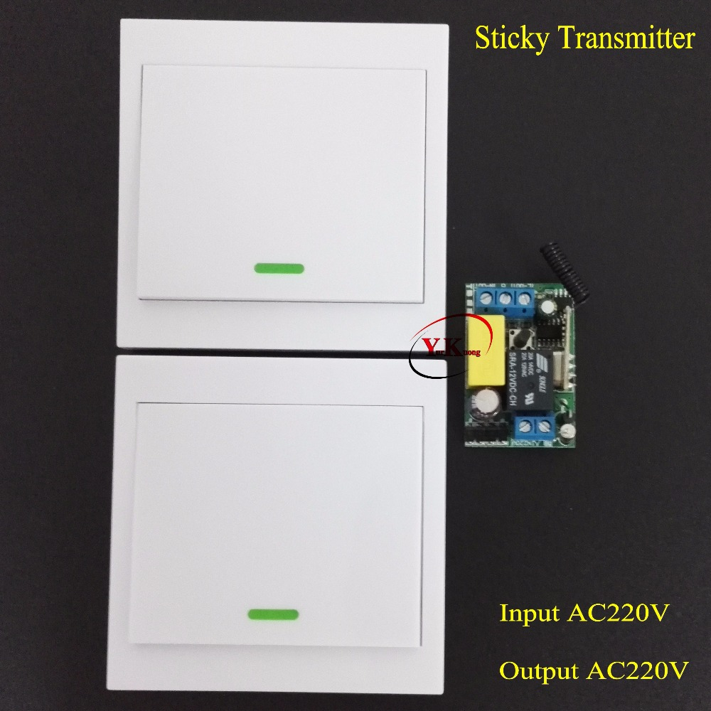Stairway Remote Control Switch AC 220V Lamp Light LED Bulb Wireless Switch Corridor Room Home Remote