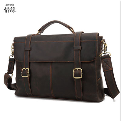 XI YUAN 2017 Genuine Leather Bags Men High Quality Messenger Bags Small Travel Dark Brown Crossbody Shoulder Bag For Men gifts hot 2018 genuine leather bags men high quality messenger bags small travel black crossbody shoulder bag for men li 1611