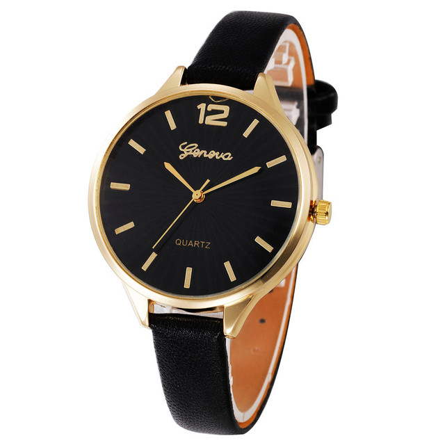 Fashion 2019 Women Casual Checkers Faux Leather Quartz Analog Wrist Watch Quartz