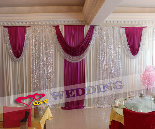 Wedding Backdrops For Decoration New Fashion Ing 3 6 M Accessories Cloth