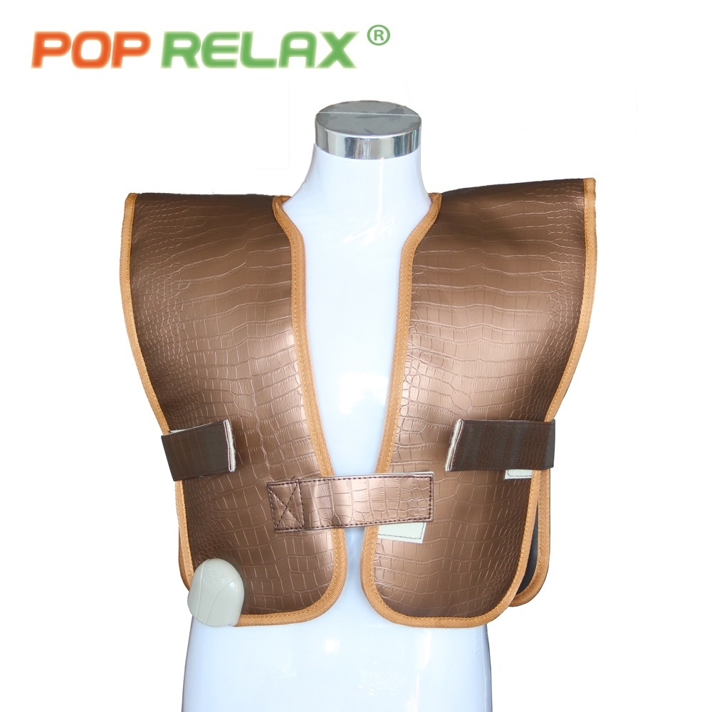 POP RELAX jade roller heating belt back pain relief waistcoat cervical infrared therapy spine care stone thermal mat 110V-220V
