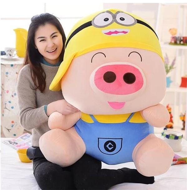 最大95センチマクダル豚ターンに漫画ミニオンぬいぐるみ抱き枕誕生日ギフトh862  グループ上の おもちゃ & ホビー からの ぬいぐるみ & フラシ天 動物 の中 1