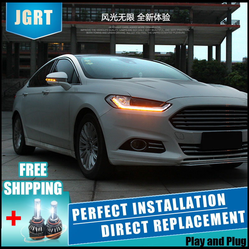 2PCS LED Headlights For Ford Mondeo 2012 2015 Car Led Lights Double Xenon Lens Car Accessories