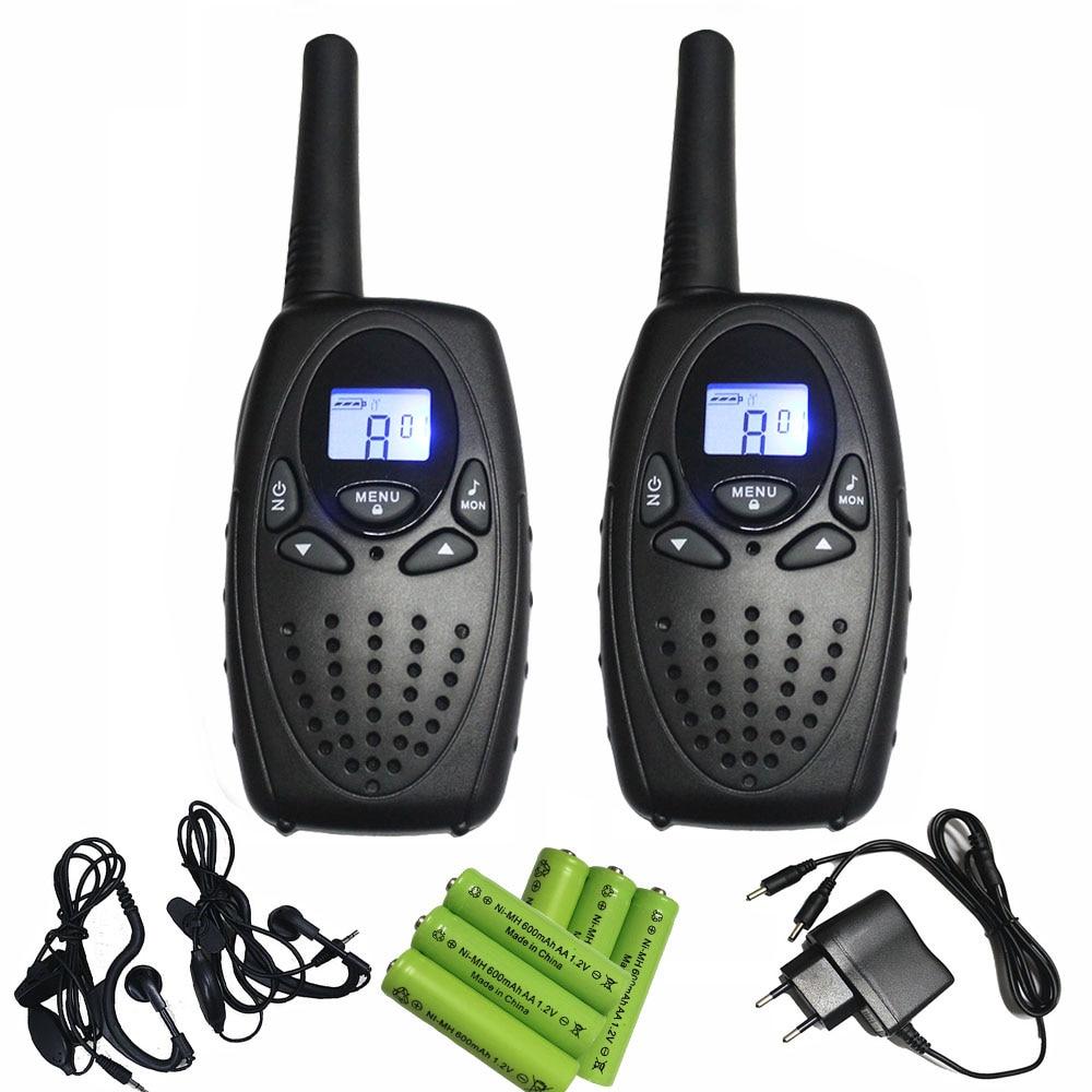 Longue distance paire T628 noir talkie-walkie PMR446 émetteur fm mobile téléphone w/écouteurs batteries chargeur direct buy china