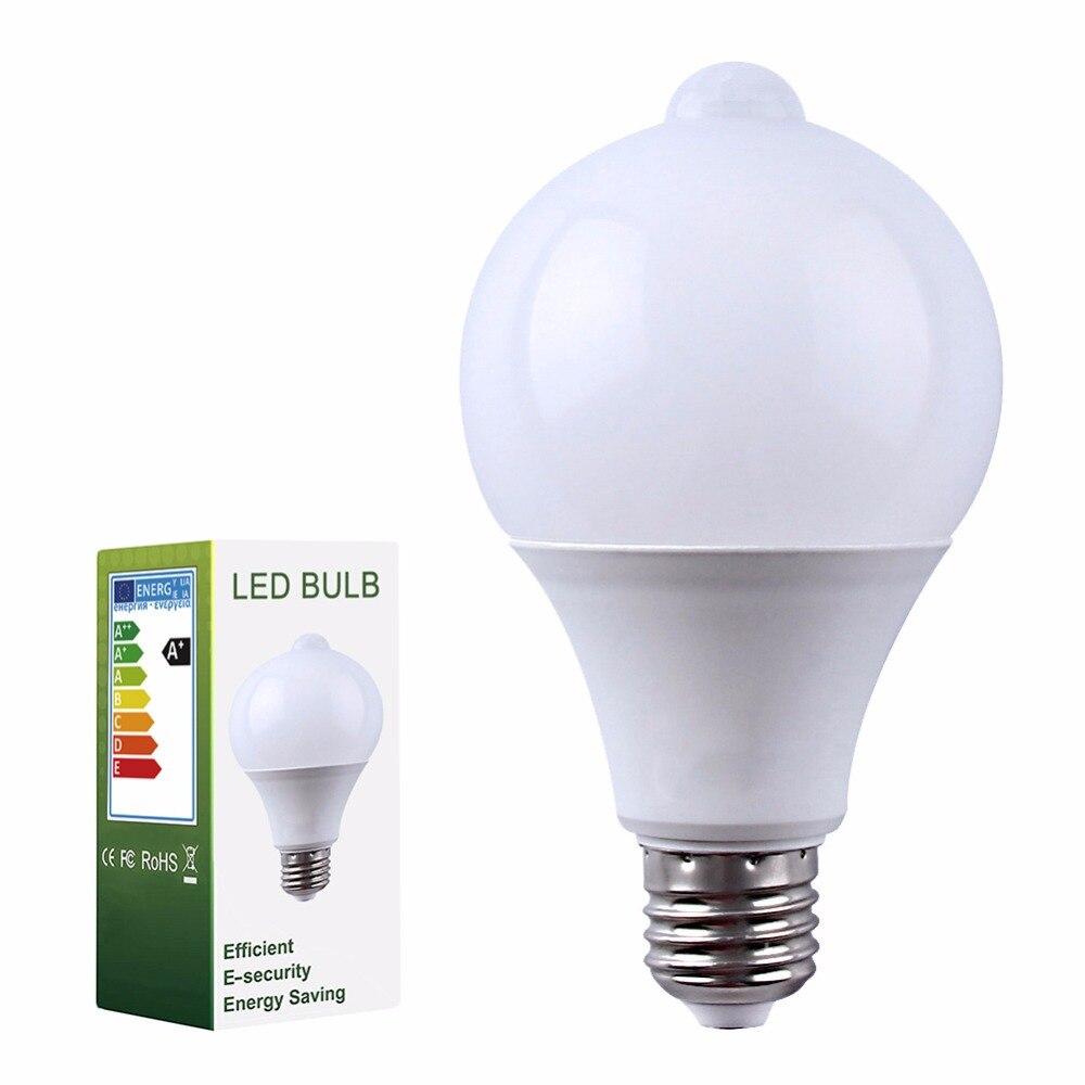 10 PCS PIR Sensor De Movimento LEVOU Lâmpada + Controle De Luz Lâmpada LED Auto Infrared Sensor LED Energy Saving Lâmpadas para escadas de Iluminação E27 - 6