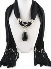 12Pcs/Lot Fashion tassel scarf new design black crystal pendant Free Shipping