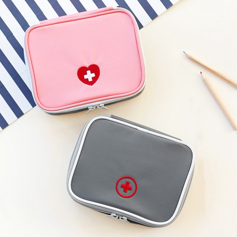 13*10*4cm Portable Medicine Bag First Aid Kit Medical Emergency Kits Organizer Outdoor Household Pill Bag Travel Medicine Box