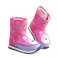 New Children Snow Boots Rabbit Warm Winter Boots Fashion Plush Baby Shoes WaterProof Sneakers Girls Boys Martin Boots