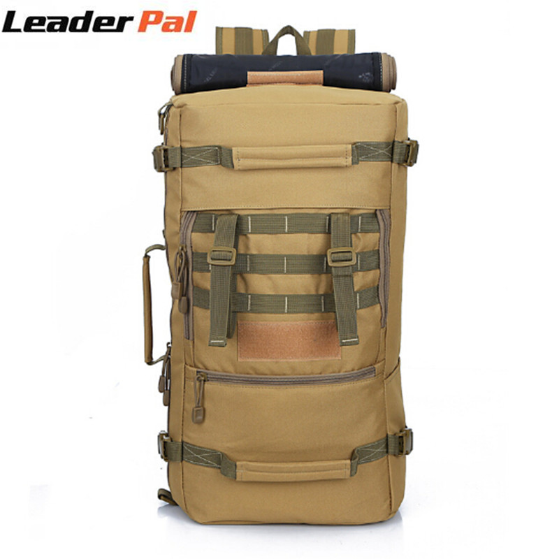 Molle Equipment Military Tactics Backpack Rucksack 50L for Men Camouflage Travel Big Capacity Daily Pack Shoulder Bags for Women baigio men backpack military molle assault backpack 3 way modular attachments 50l waterproof bag rucksack male travel bags