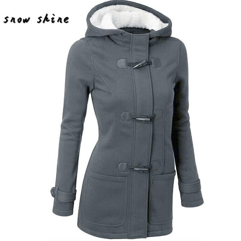 snowshine YLW  Fashion Women Windbreaker Outwear Warm Wool Slim Long Coat Jacket Trench smock Hoodies Harajuku Ladies jersey