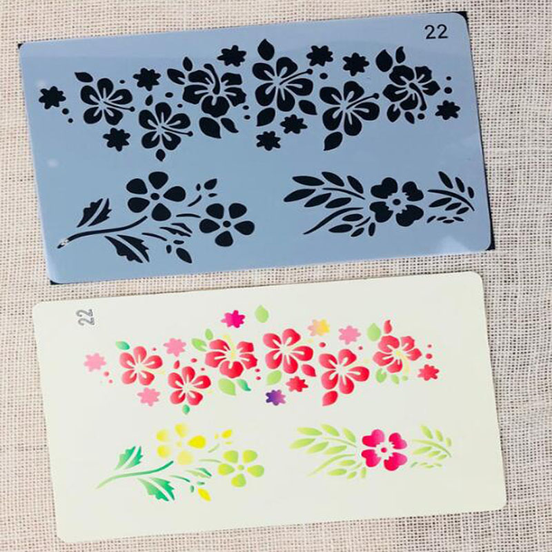 Children'S Template Ruler Stationery Lace Ruler Children'S Graffiti Template Ruler Plant Openwork Drawing Template Ruler
